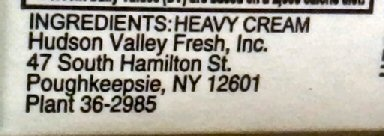 Hudson Valley Fresh Ingredients