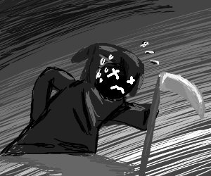 Exhausted Grim Reaper